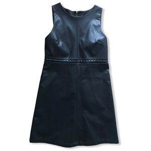 Altar'd State | faux leather dress + NWT black